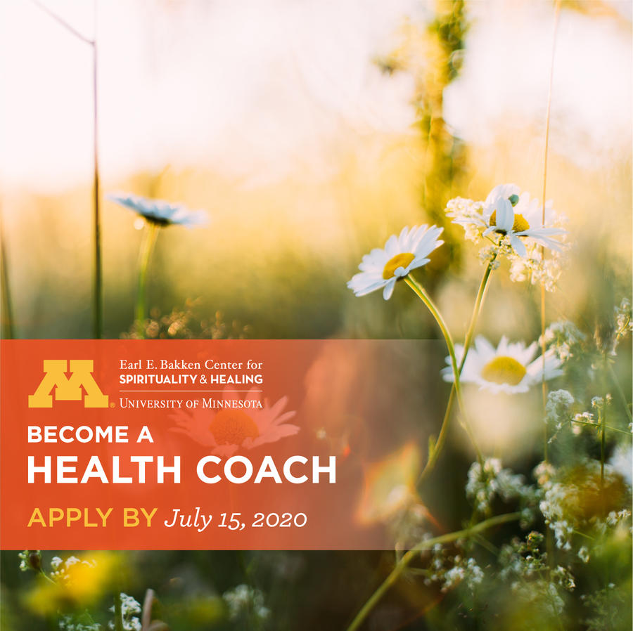Become a Health Coach! Application deadline extended to 7/15