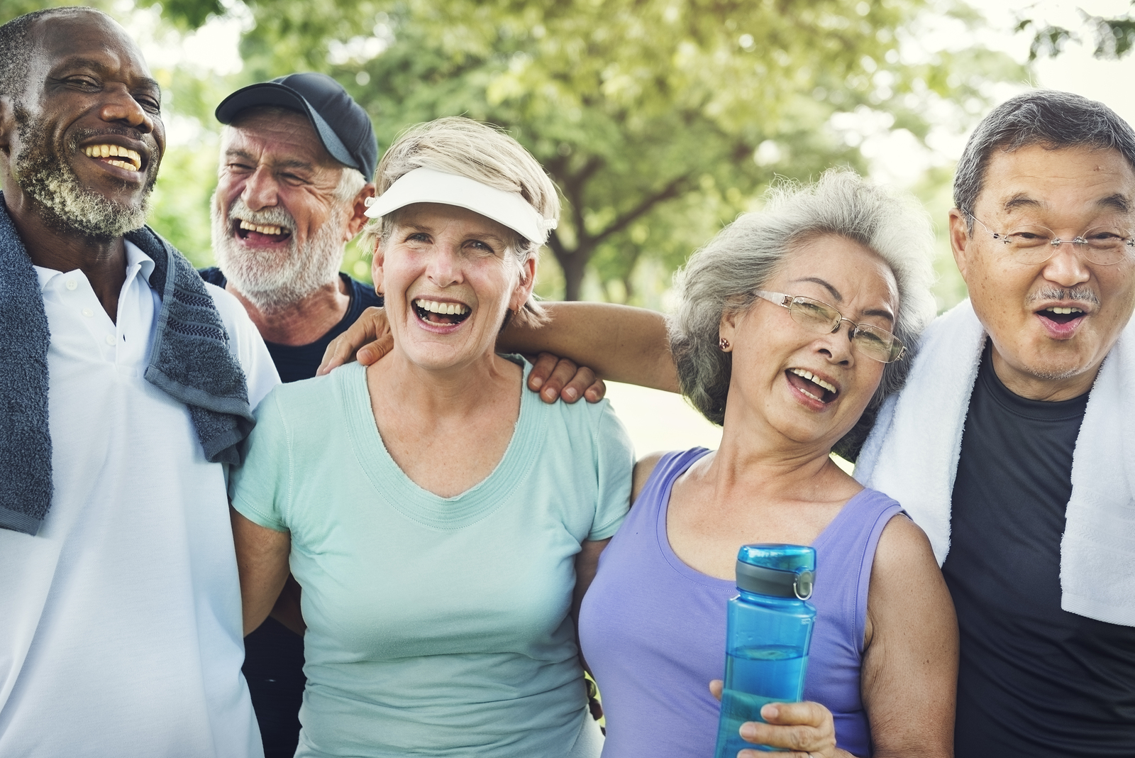 People 50 and up practicing their own wellbeing