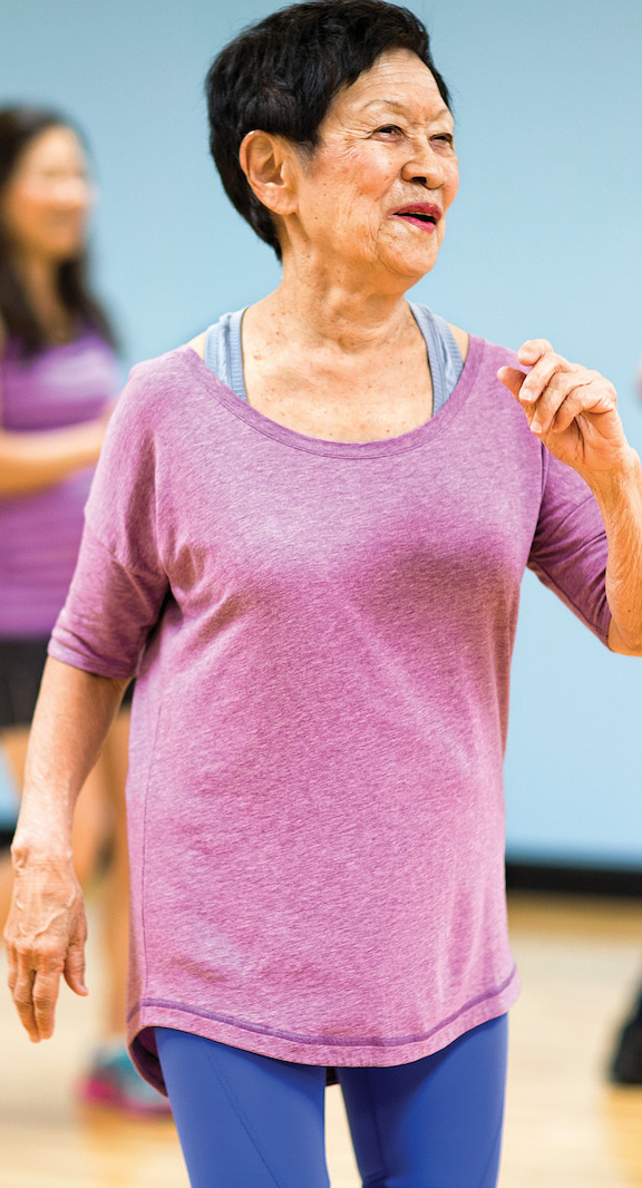 woman happily participating in umn ymca research study