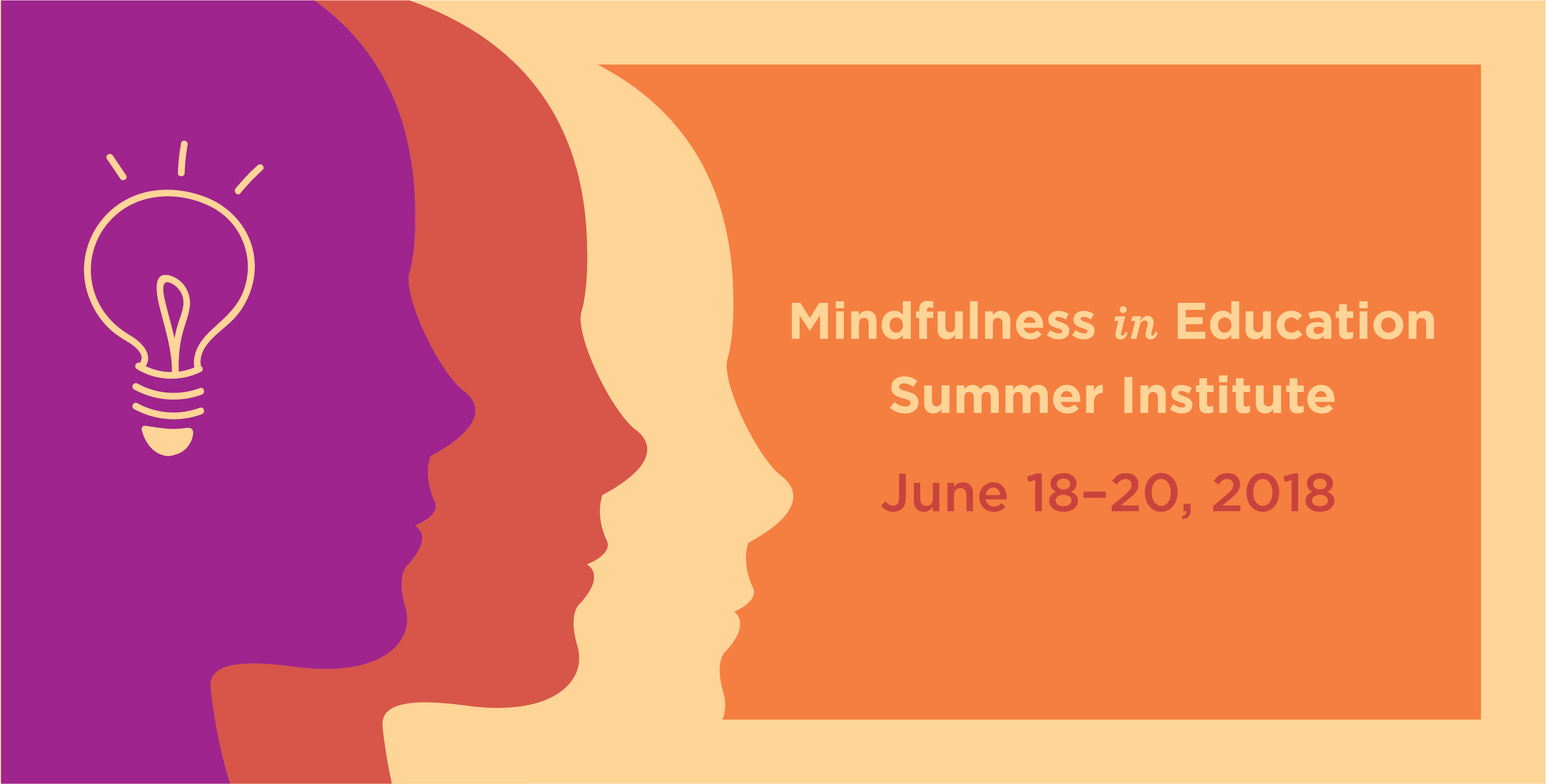 mindfulness in education summer institute banner with faces in profile