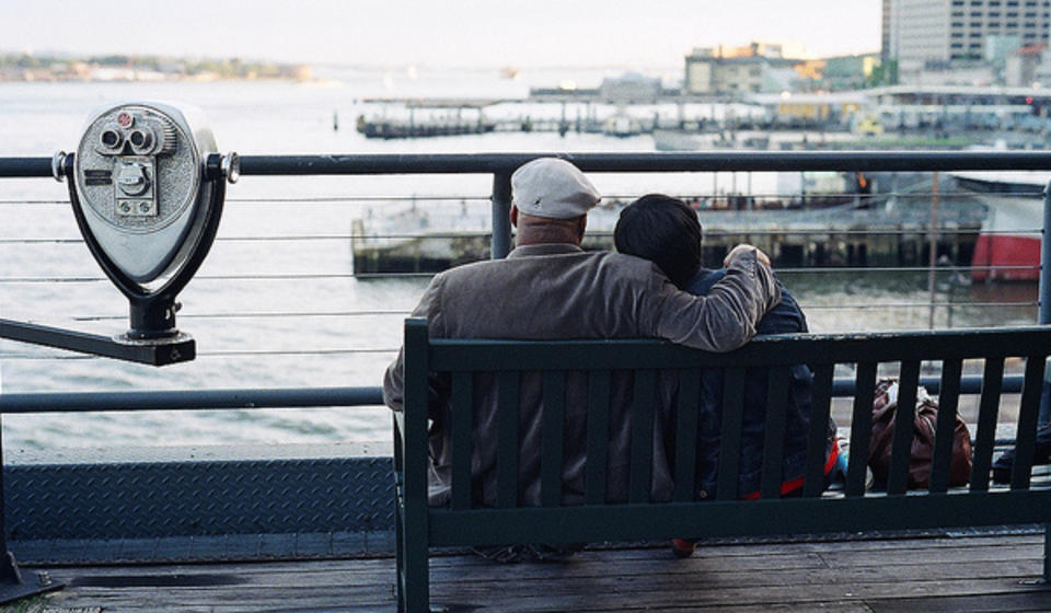 Couple on docks