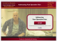 Intro screen for Addressing Post Operative Pain module, featuring a man sitting on the edge of a hospital bed.