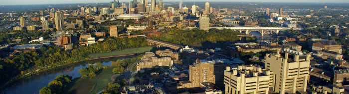 Aerial view of the University of Minnesota